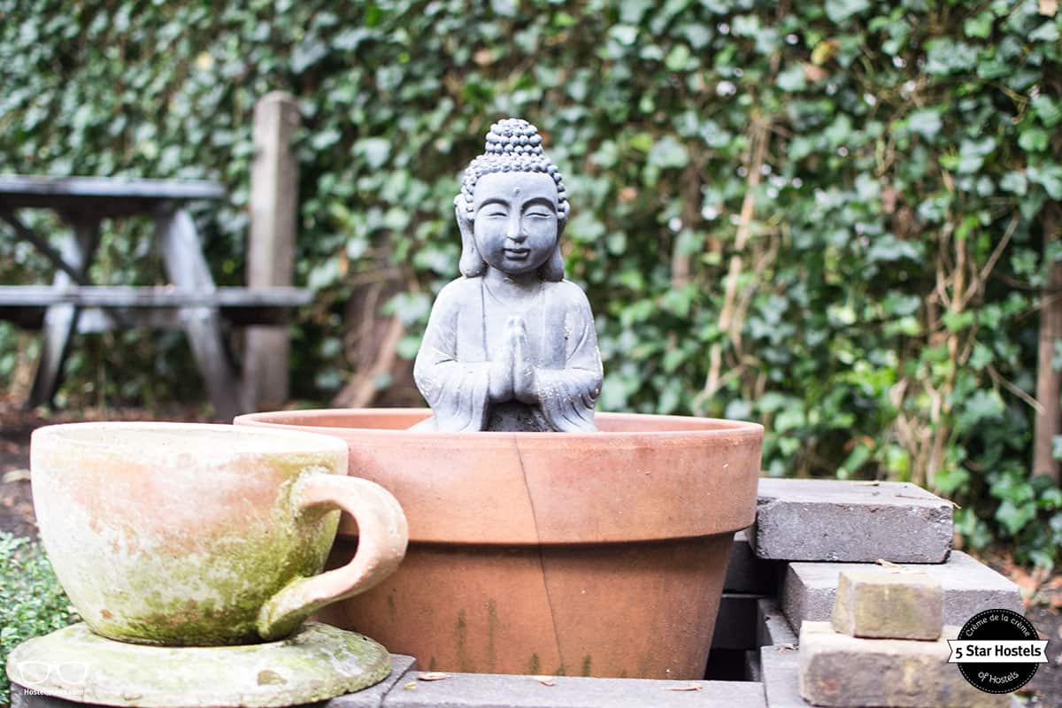 Little Buddha in the garden at Cocomama
