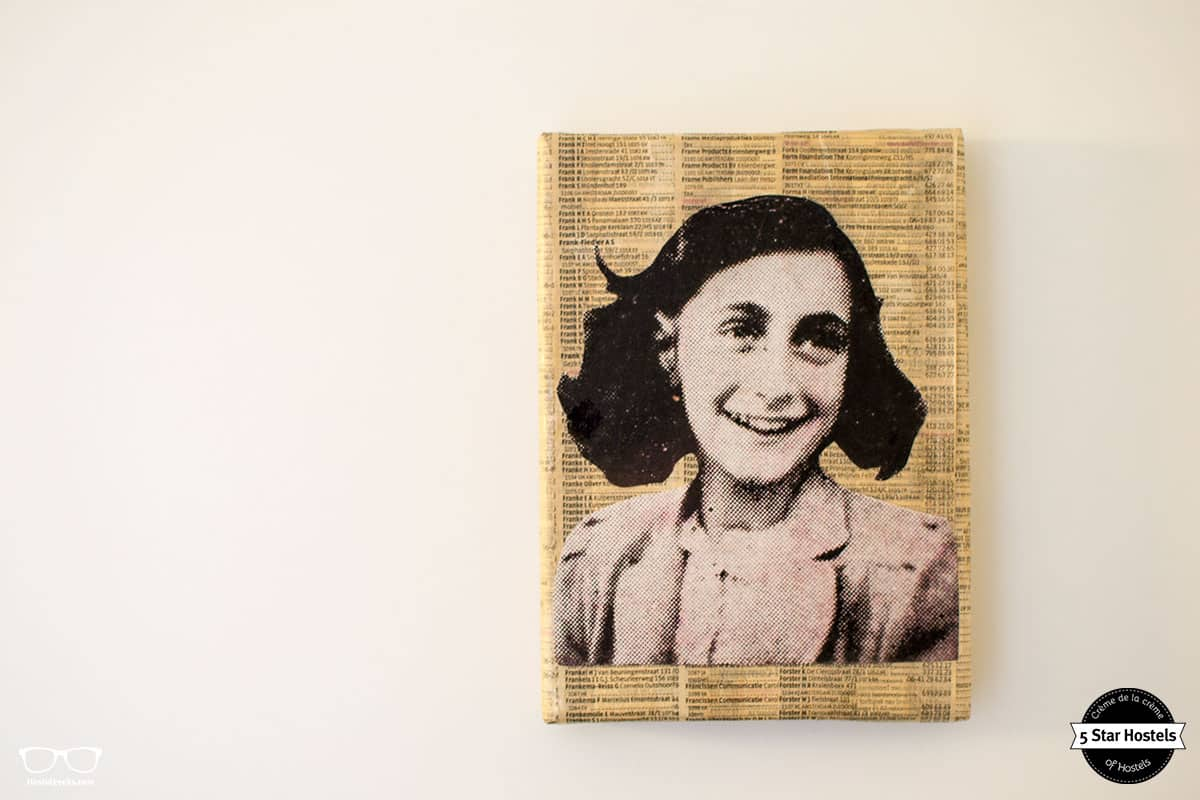 The Anne Frank Room at Cocomama Amsterdam