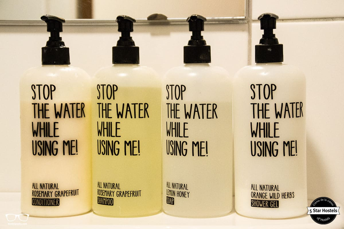 Stop the water while using me! A special conscious shampoo at Cocomama, used as well at Ecomama