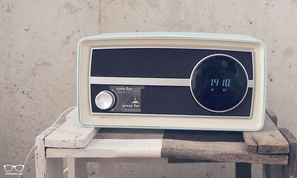 Vintage radio in Ecomama Hostel