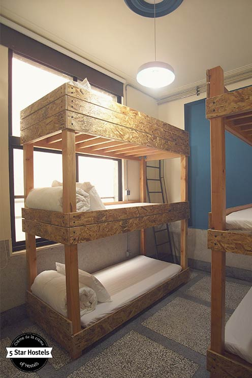 Chipboard Bunk Beds Design at With Inn Hostel