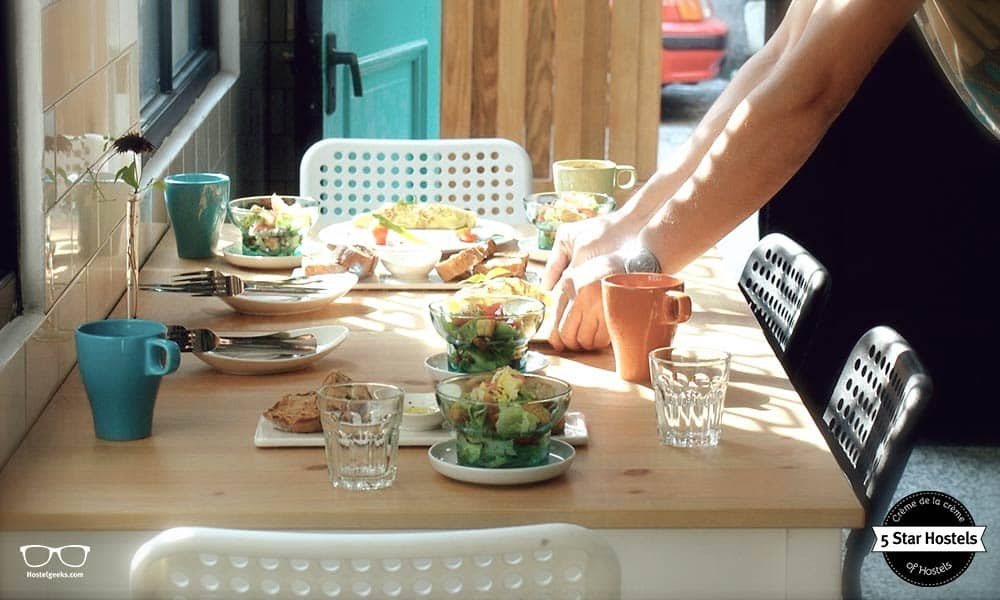 Let's get the morning started with a delicious breakfast at With Inn Hostel in Kaohsiung