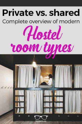 Different Hostel Room Types - an overview