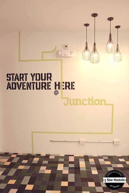 Makati Junction Hostel, stylish hallways to the rooms