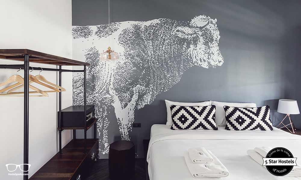 Schwarz, Weiß und Grau - Wir von Hostelgeeks lieben das Design von Oxotel Chiang Mai