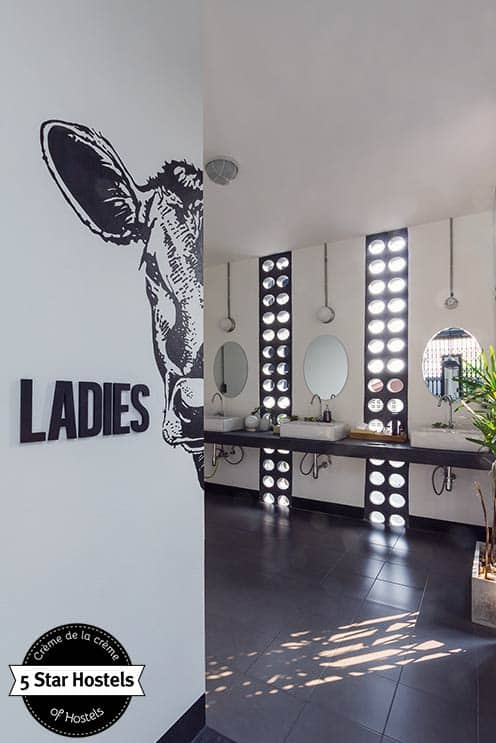 Ladies restroom at Oxotel Chiang Mai. Spacious and illuminated