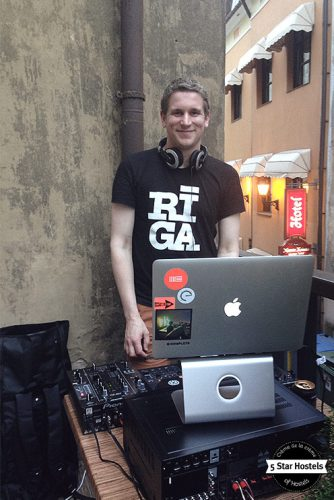 DJ Sessions at the secret terrace in Riga