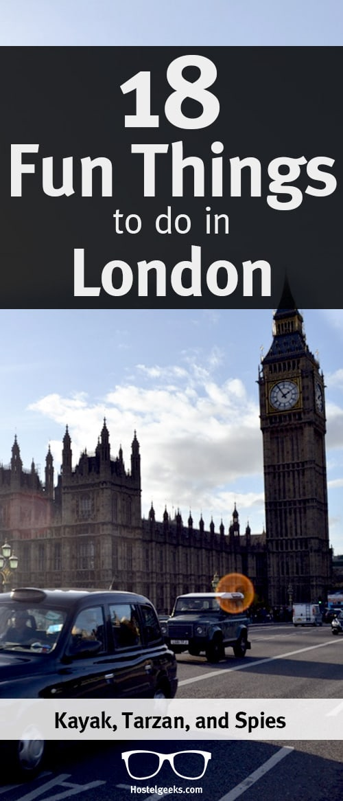 Fun Things to do in London on Pinterest
