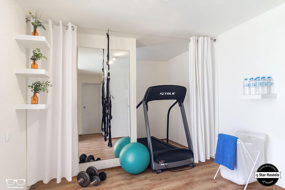 Work-out gym facilities at Stay Hostel Rhodes