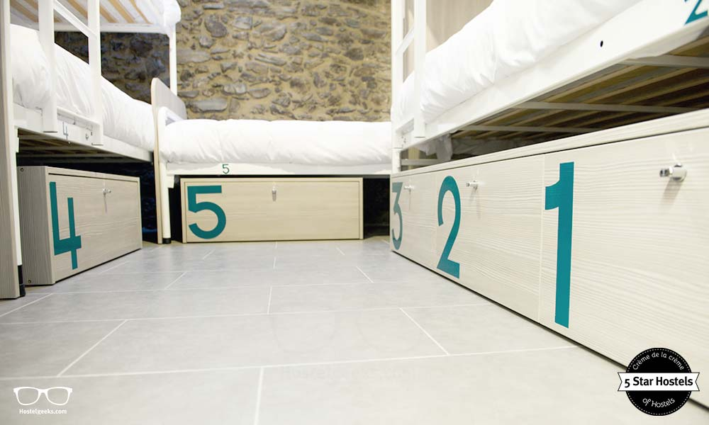 Secure lockers at Mountain Hostel