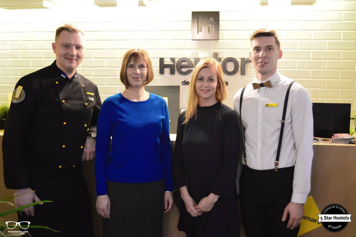 The President of Estonia, Kersti Kaljulaid visiting Hektor Design Hostel