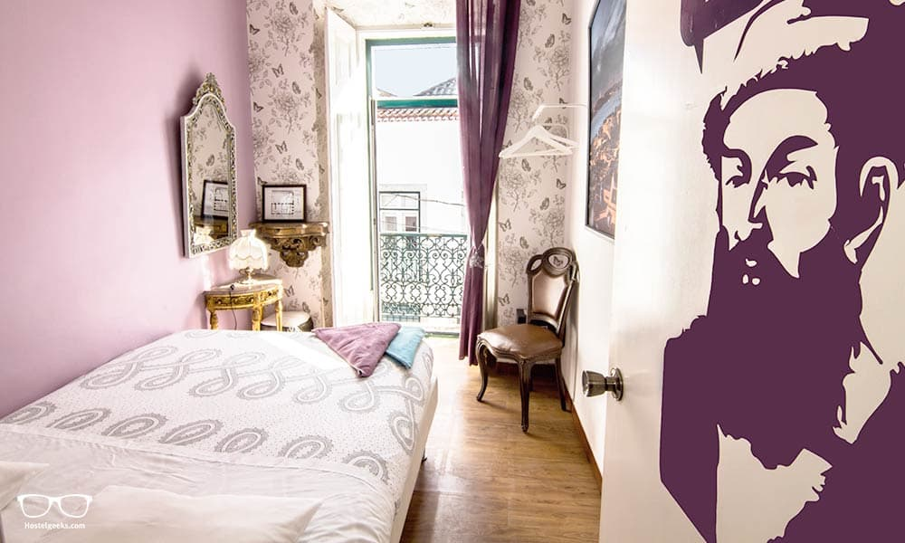 Alfama Patio in Lisbon, beautiful hostel design dorm
