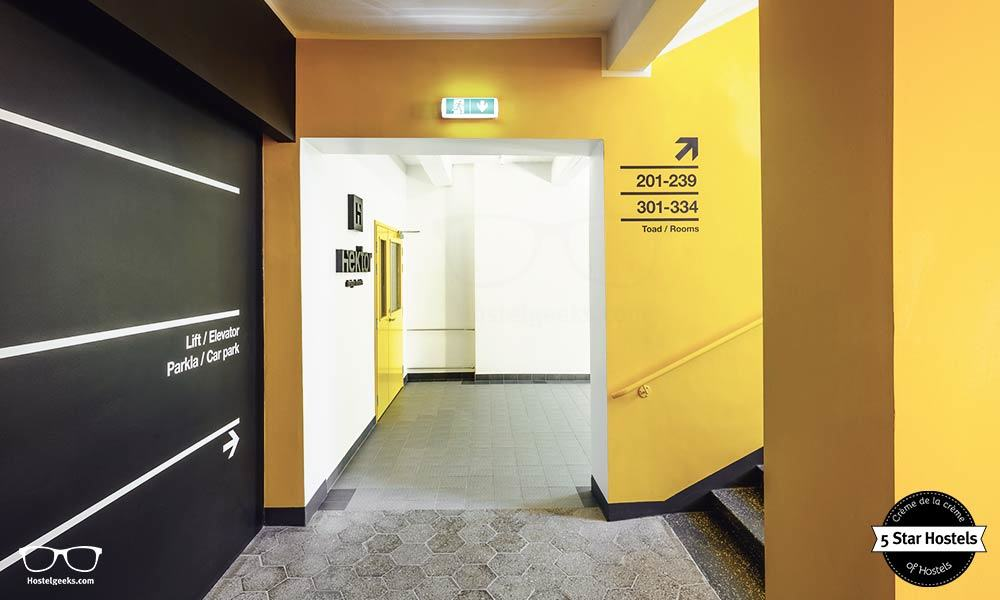 The corridor at Hektor Design Hostel