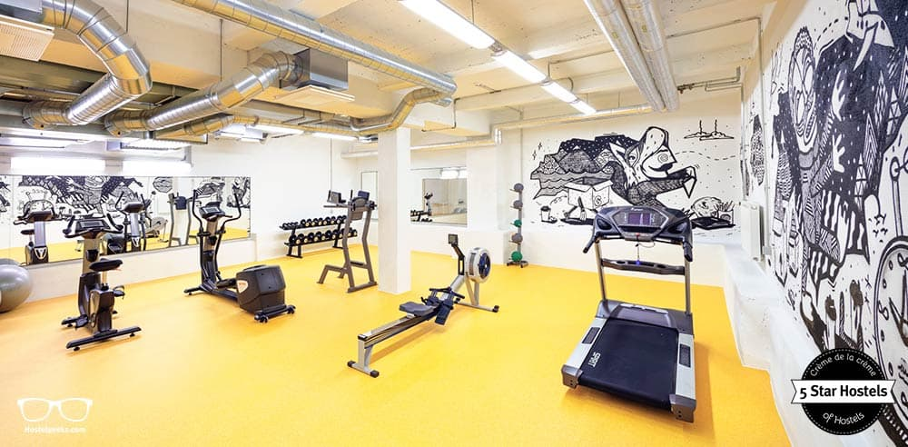 Wanna work out? The Hektor Design Hostel even features a gym