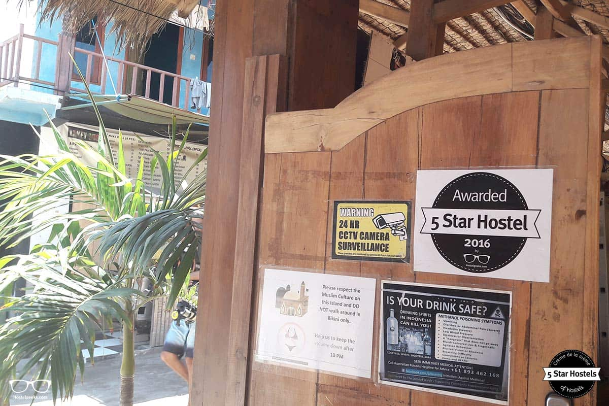The 5 Star Hostel Award at Gili Castle