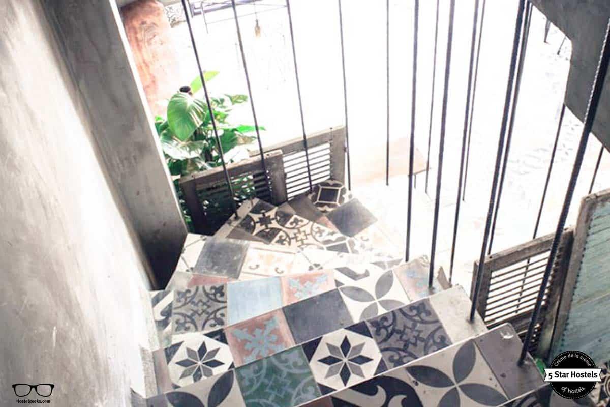 Tiles floor at Memory Hostel