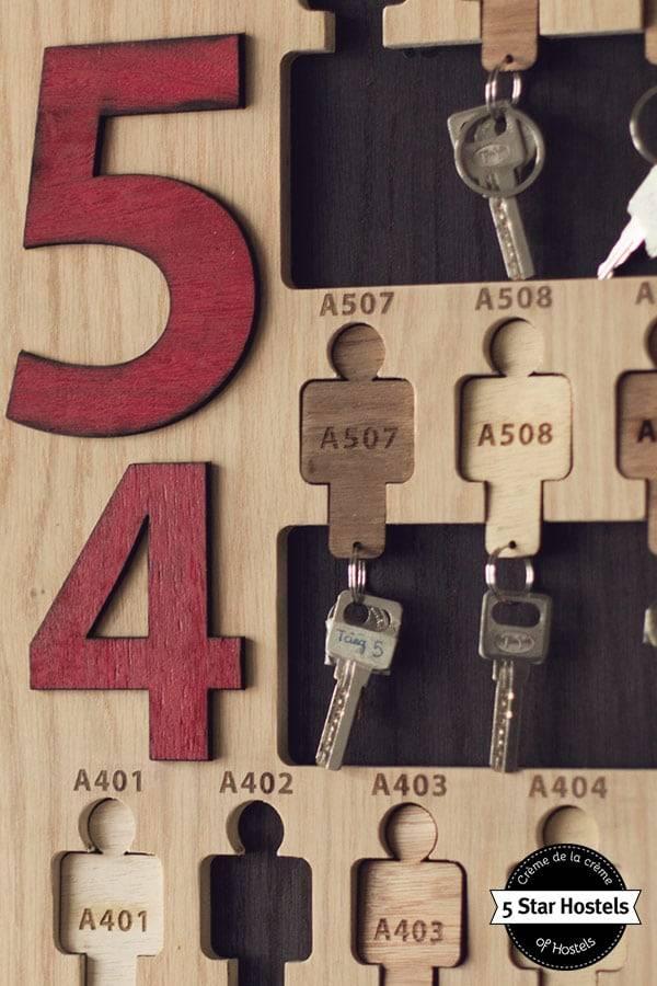Wook keyholders at Memory Hostels