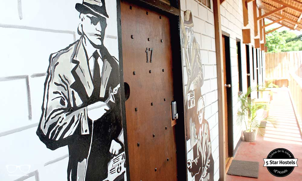 Banksy Art at Gili Castle Hostel