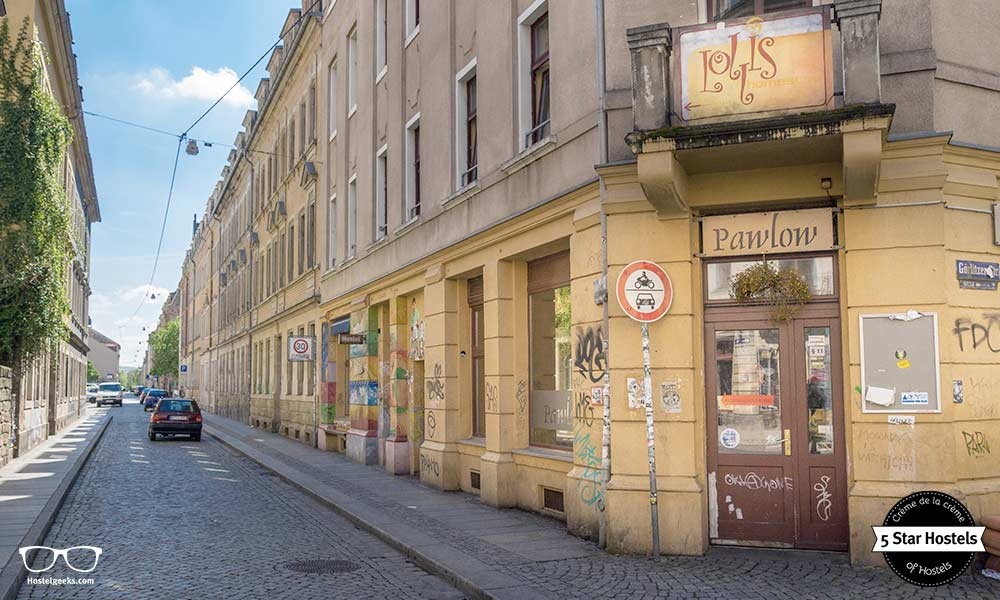 The location of Lollis Homestay is fabulous, directly in the bohemian center of Dresden