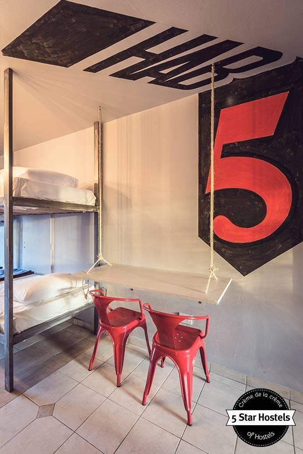 Das Schlafzimmer mit 5 Betten im Onas Hostel