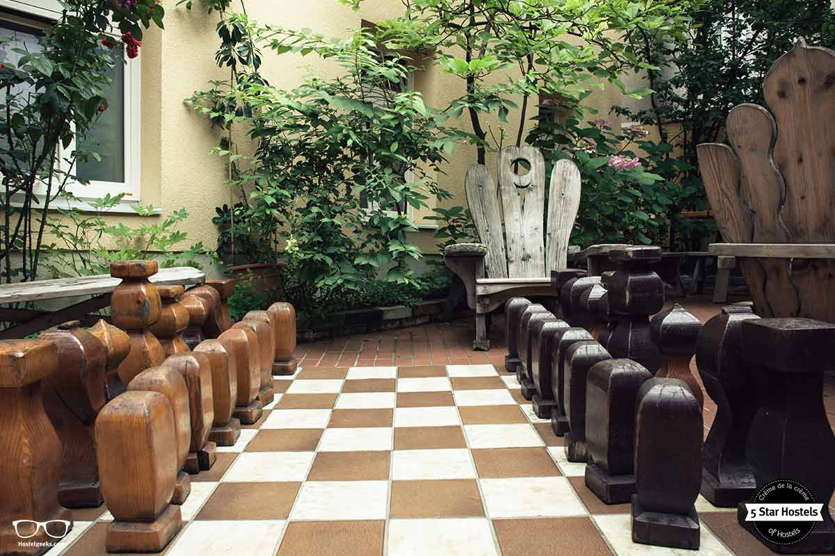 Big chess!Do you dare to play? Hostel Ruthensteiner Vienna