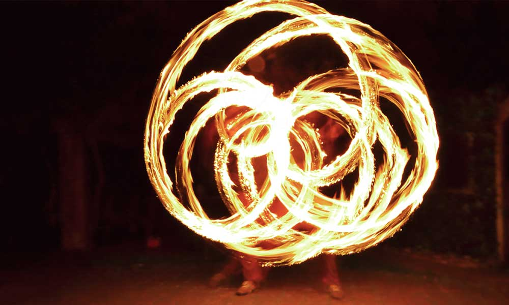 Fire performance at Jugglers Rest Picton New Zeland