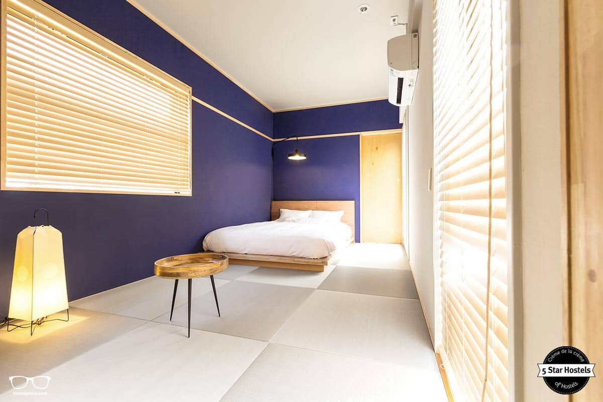 The private room, the japan-style. The Share Hotel offers both private and shared accommodation