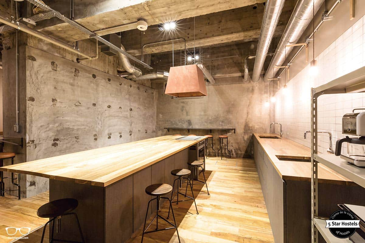Concrete walls, and wooden furniture: The Share Hotel Hatchi Kazanawa