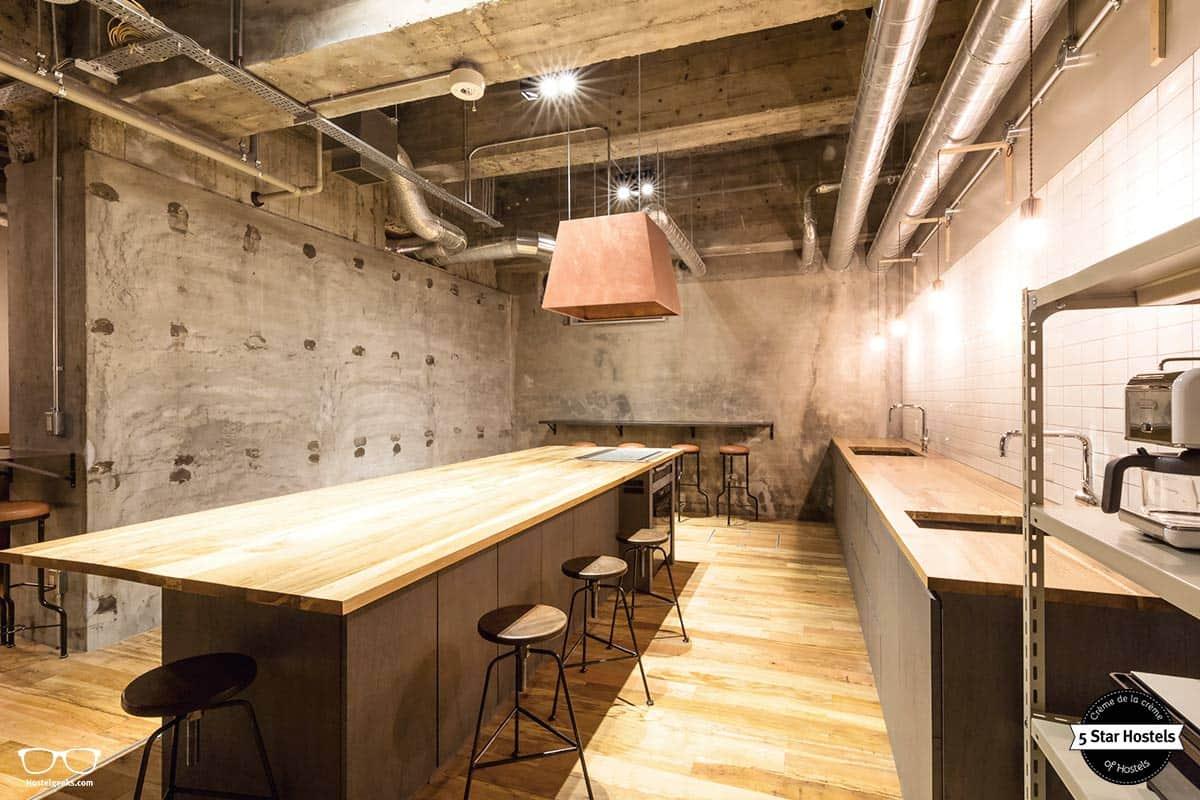 Concrete walls, and wooden furniture: The Share Hotel Hatchi Kazanawa