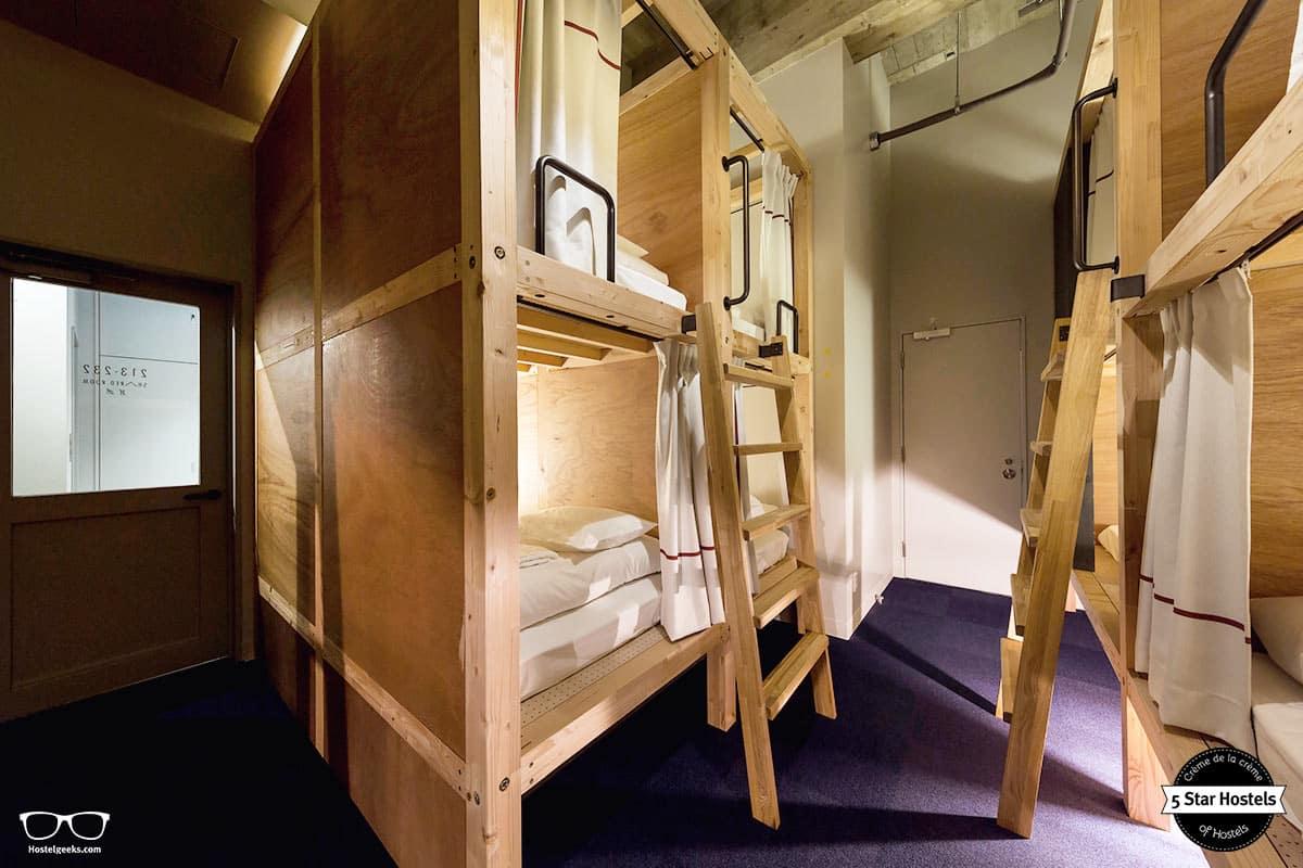 Pod-Styled dorms at The Share Hotel Kazanawa Hatchi