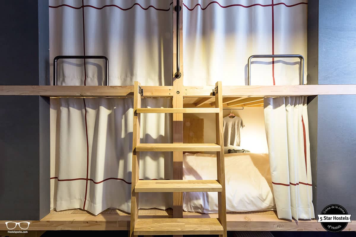 Pod-Time! The Share Hotel Kazanawa Hatchi offers pod-styled dorms, typical for Japan