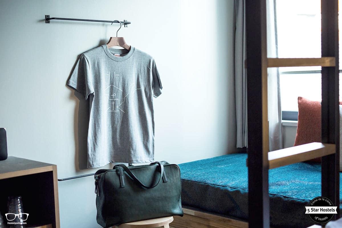 T-Shirt design and hostel design at The Share Hotel Kazanawa Hatchi