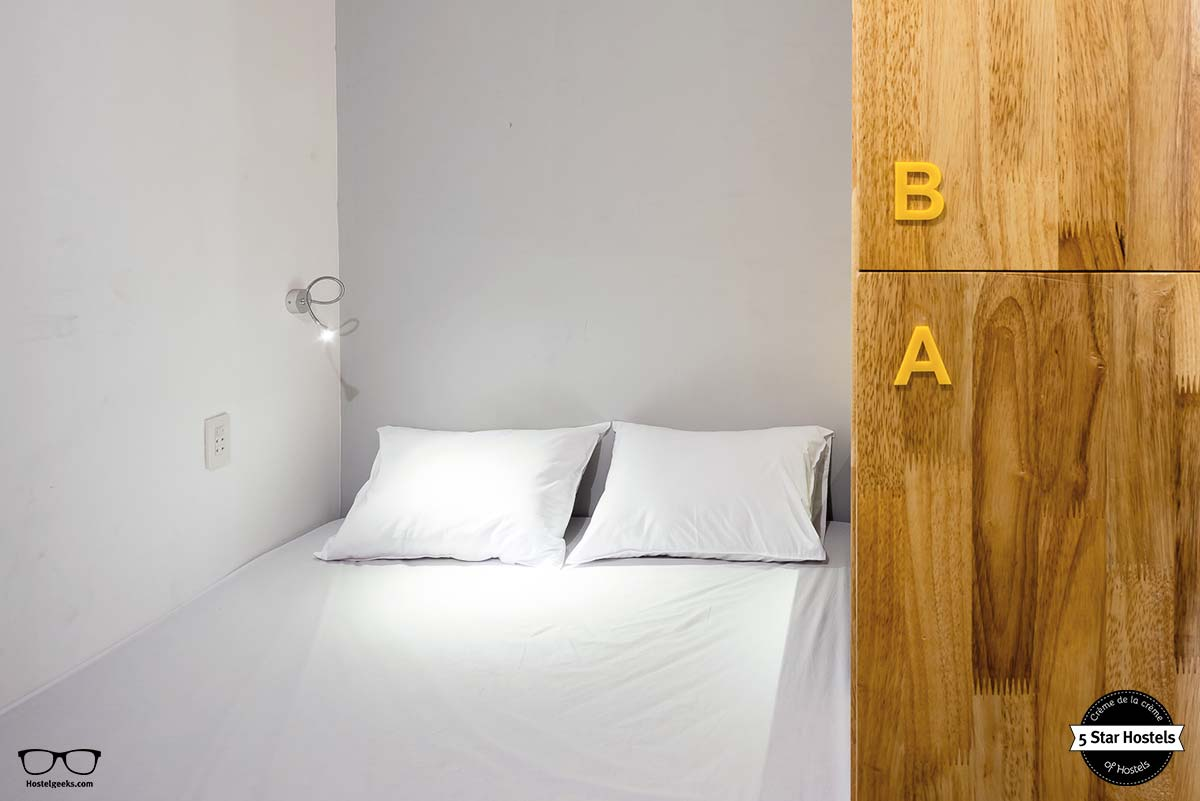 Double bed in a dorm at Ccasa Hostel