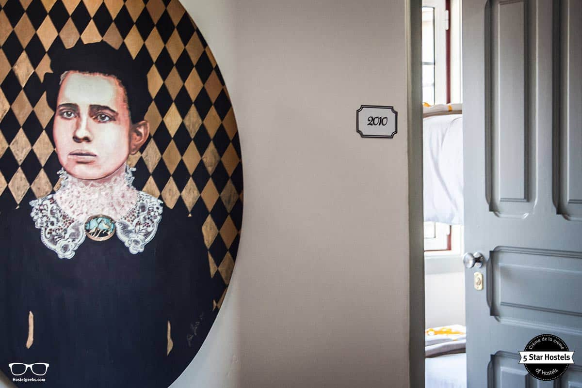 Art on the walls in Most art boutique Hostel