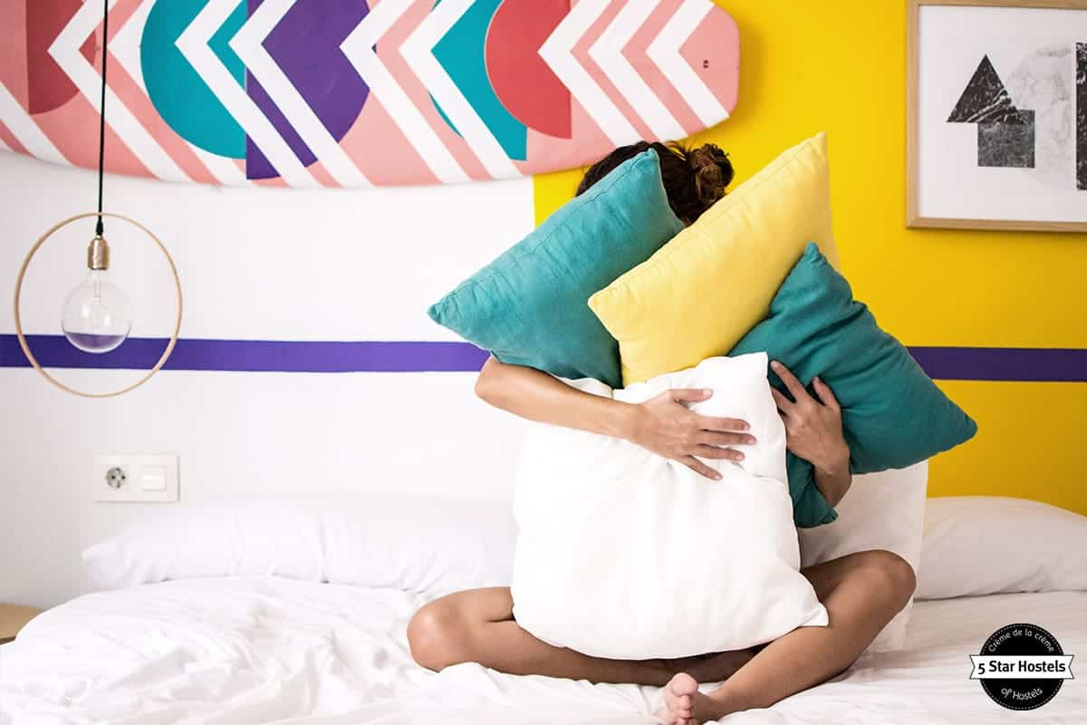 Pillow Fight at Valencia Lounge Hostel
