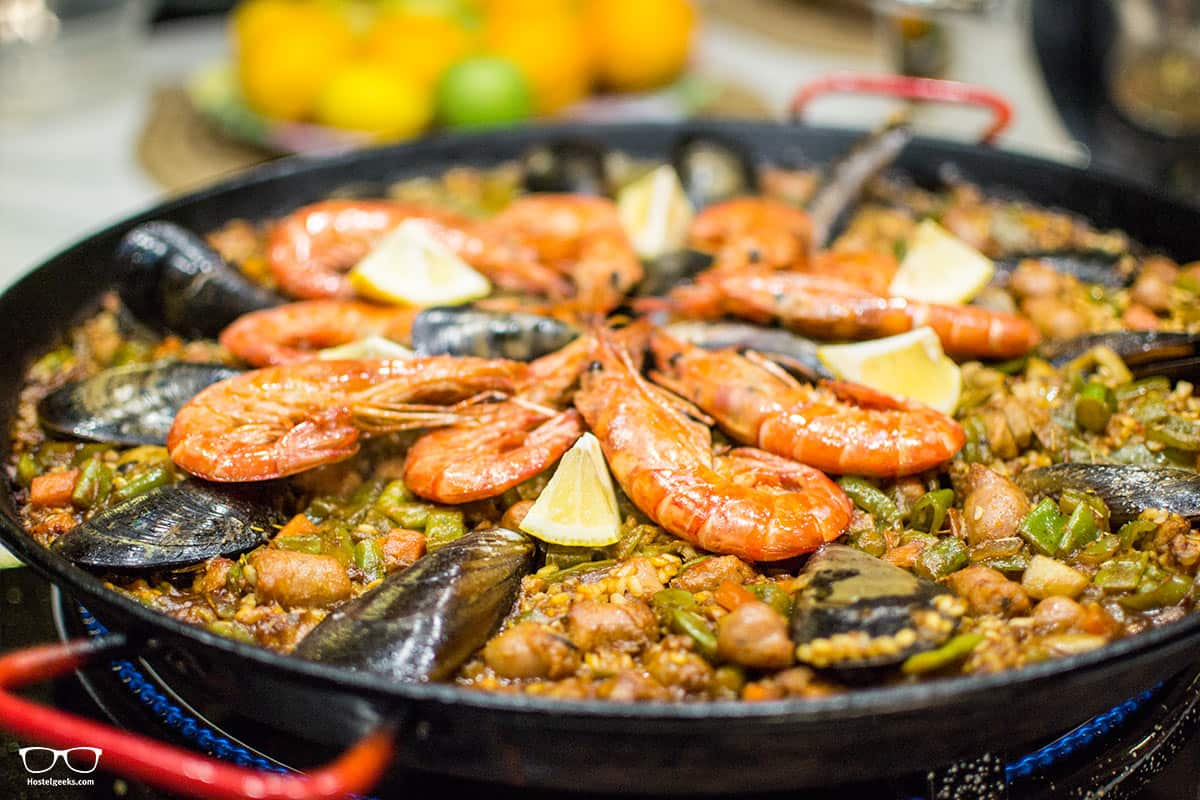 Touch down: The Homemade Paella!