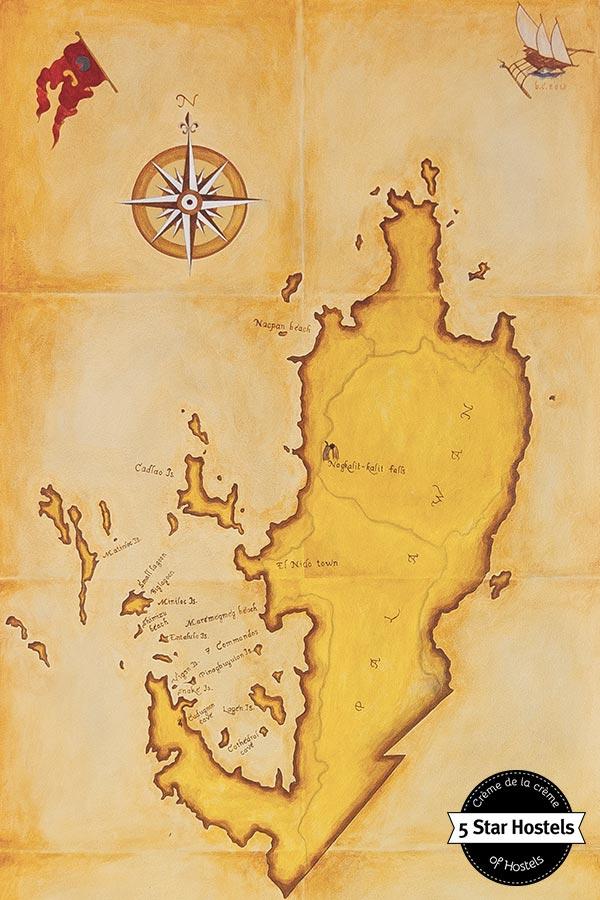 El Nido Palawan old map