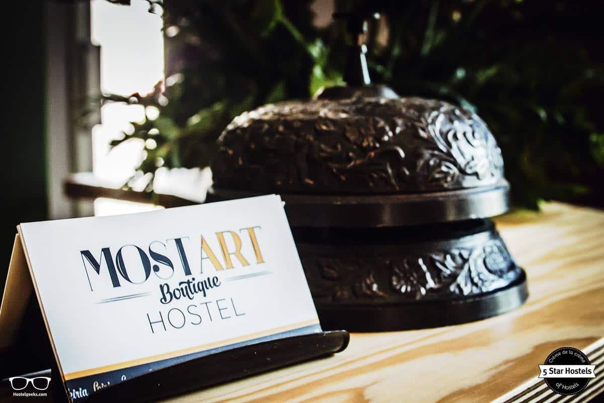 Reception details at Most Art boutique Hostel