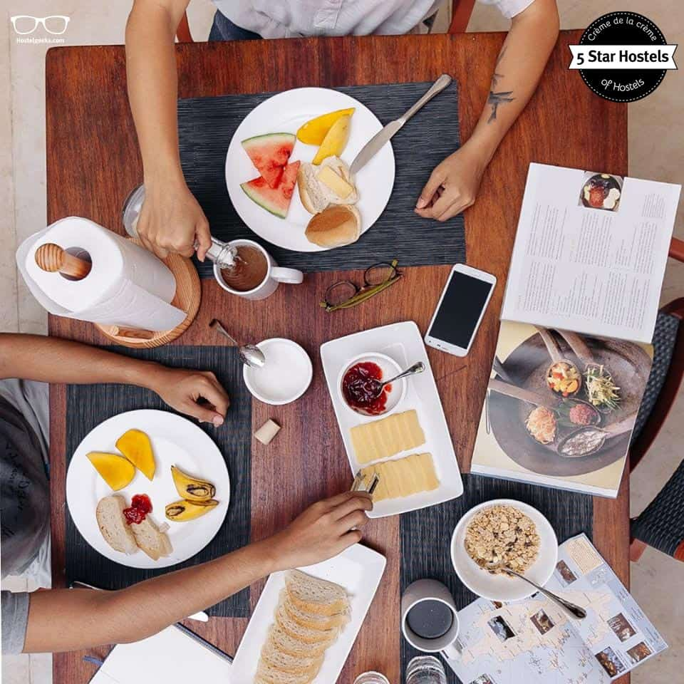 The Breakfast at Spin Designer Hostel