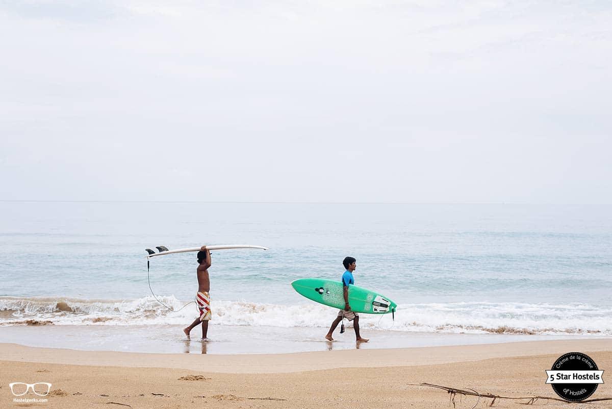 Surfing in Paradise, starting at Spin Designer Hostel