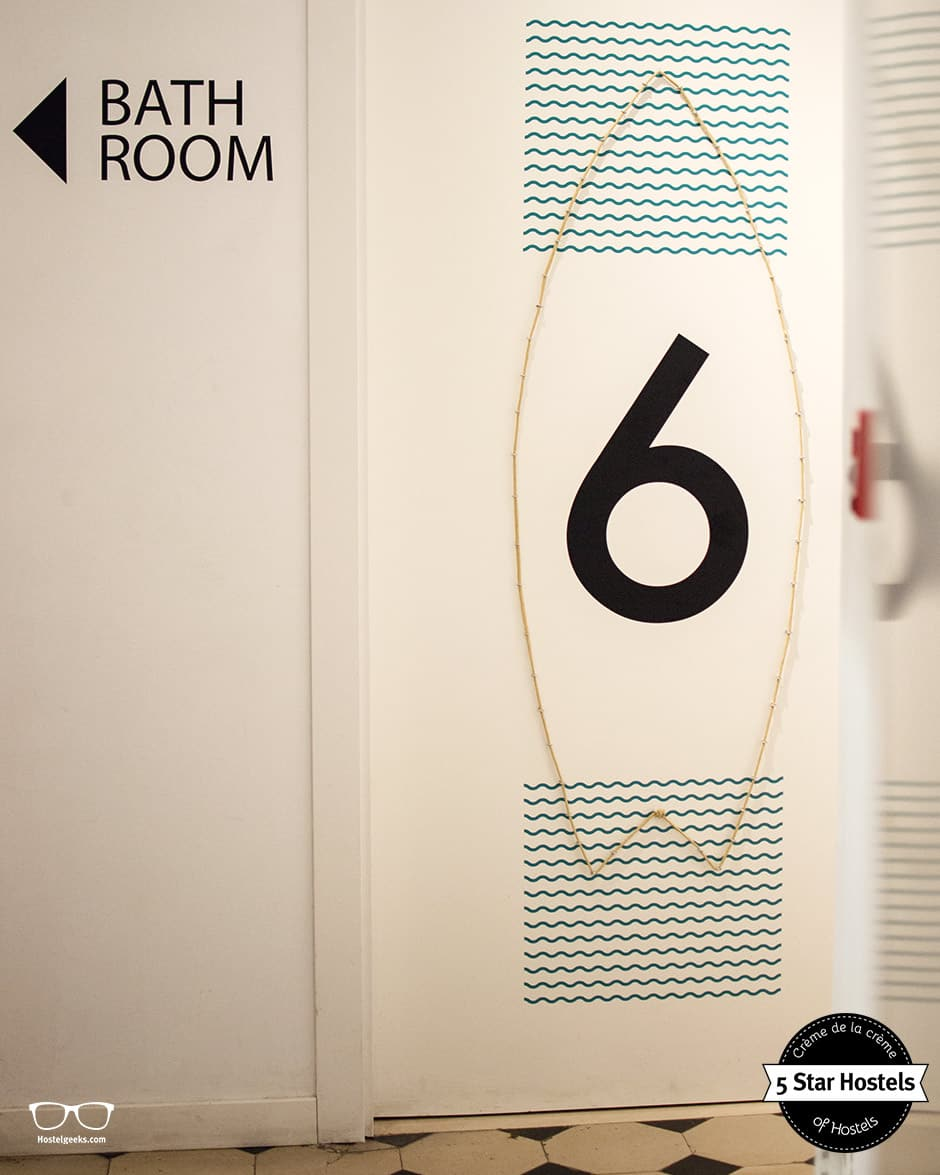Room 6, the SurfBoard at Valencia Lounge Hostel