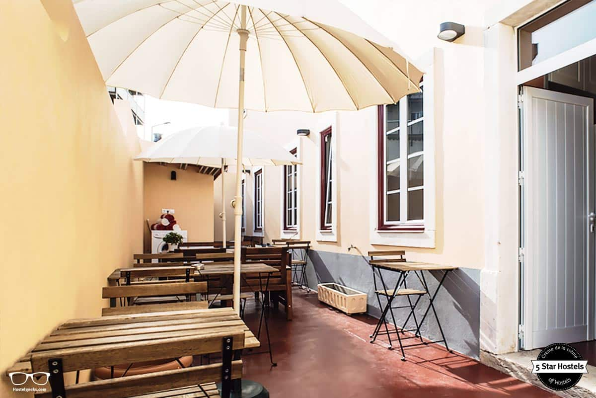 Enjoy the terrace at most art boutique Hostel Leiria