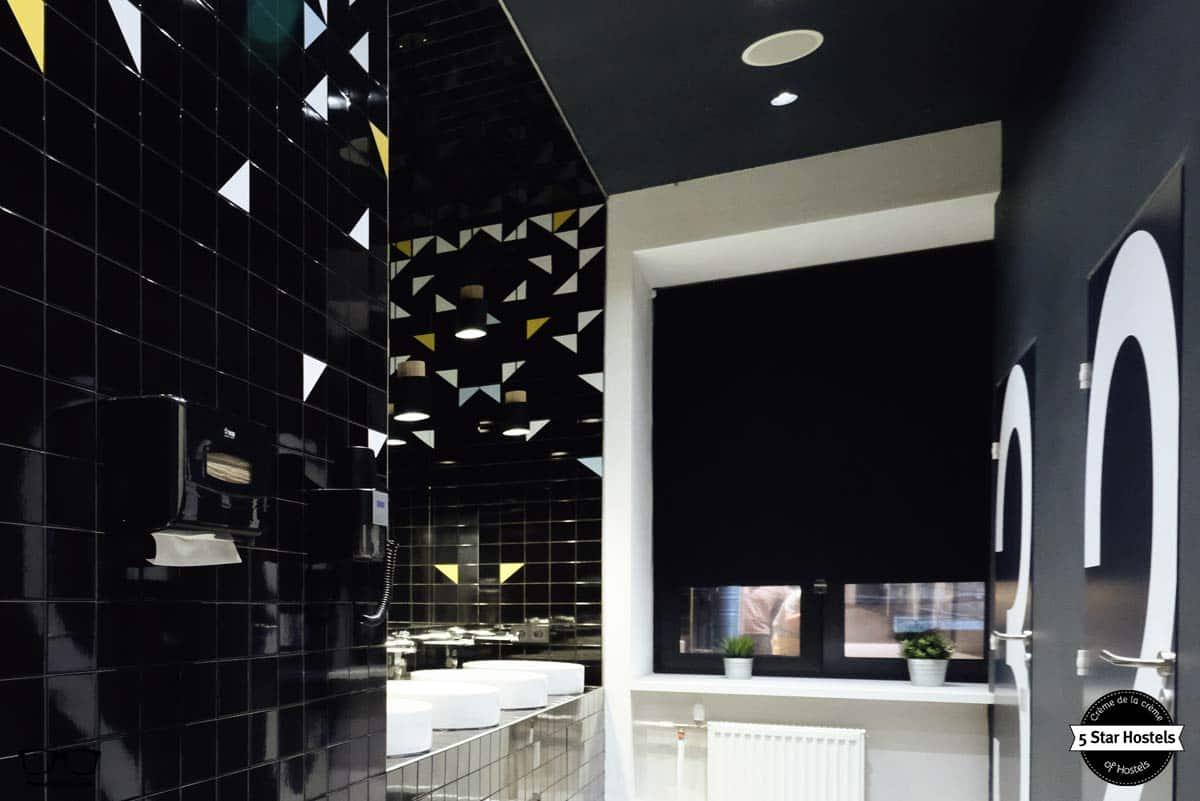 Bathroom at inBox Capsule Hotel Saint Petersburg
