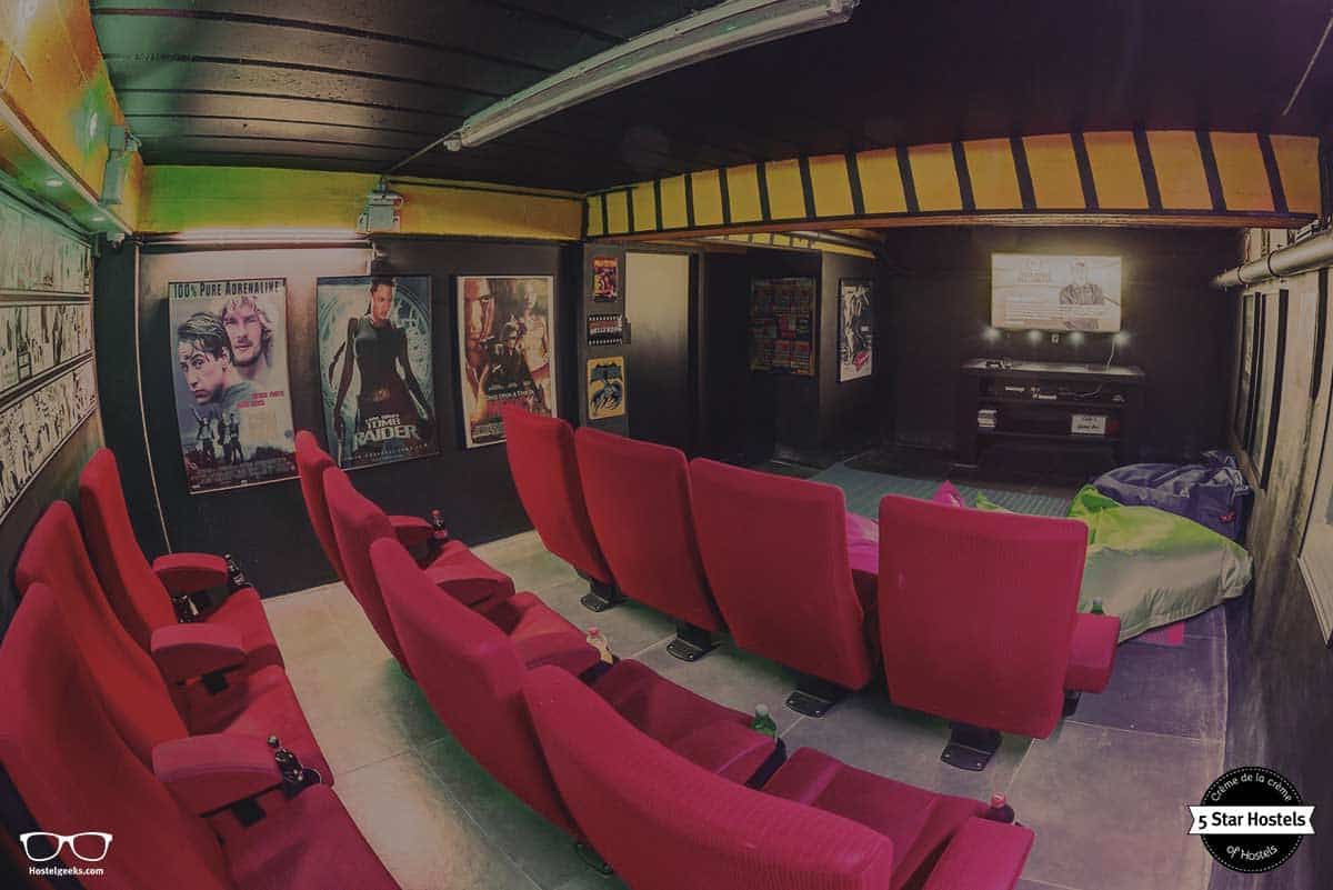 Cinema room at Cube Hostel Leuven