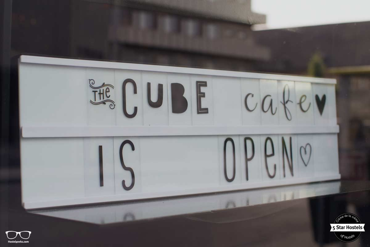 Cube cafe at Cube Hostel Leuven