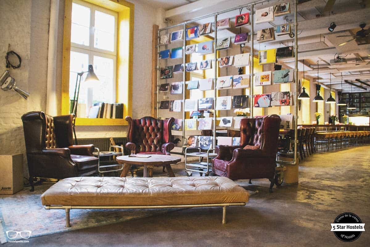 Design lounge at Superbude Hamburg