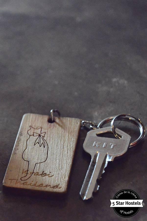 keys details at SleepClub Hostel in krabi, Thailand