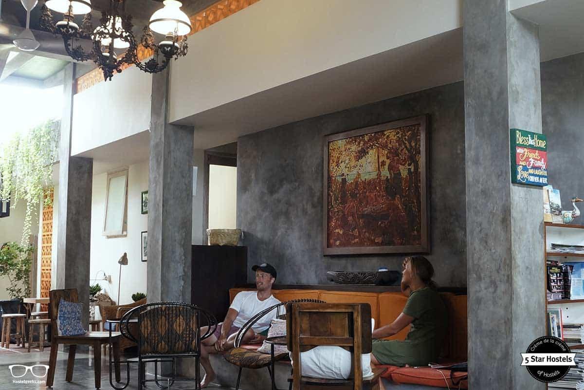 Making friends at Bread&Jam Hostel Bali