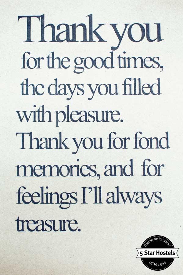 SleepClub Krabi quote: thank you