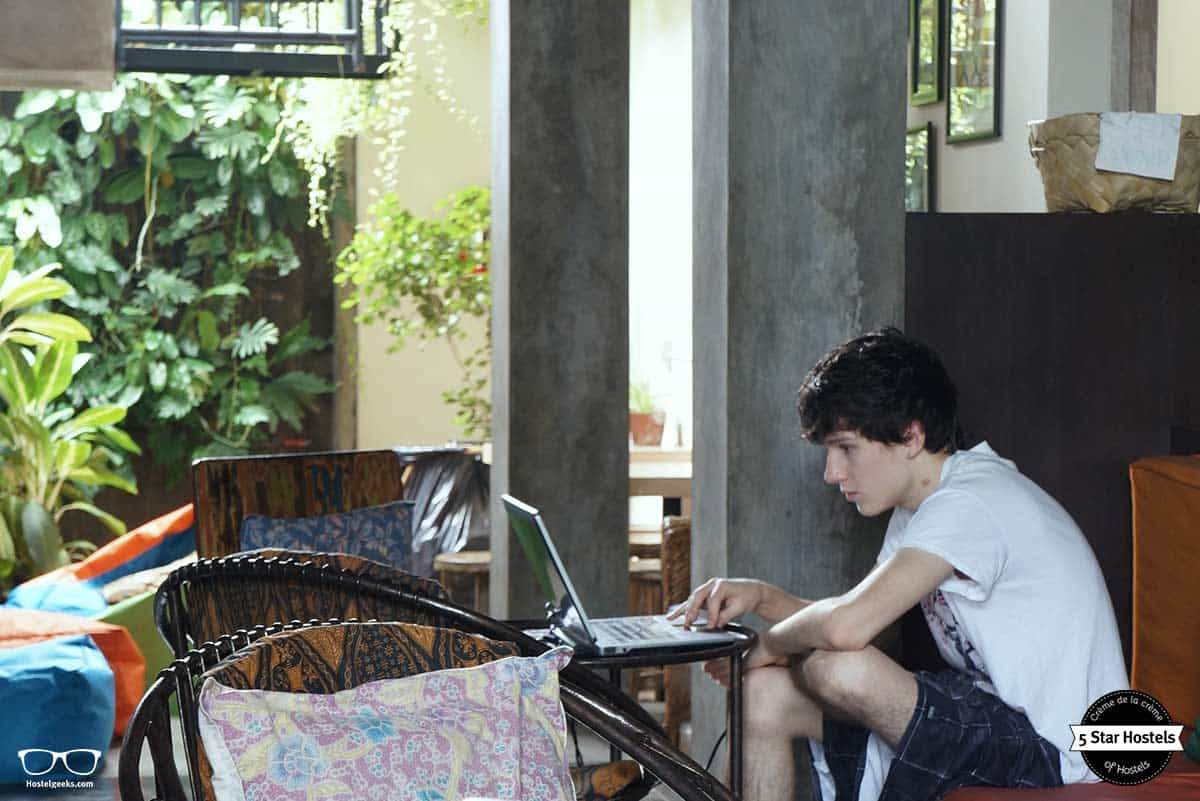 Get cozy at Bread and Jam Hostel Bali